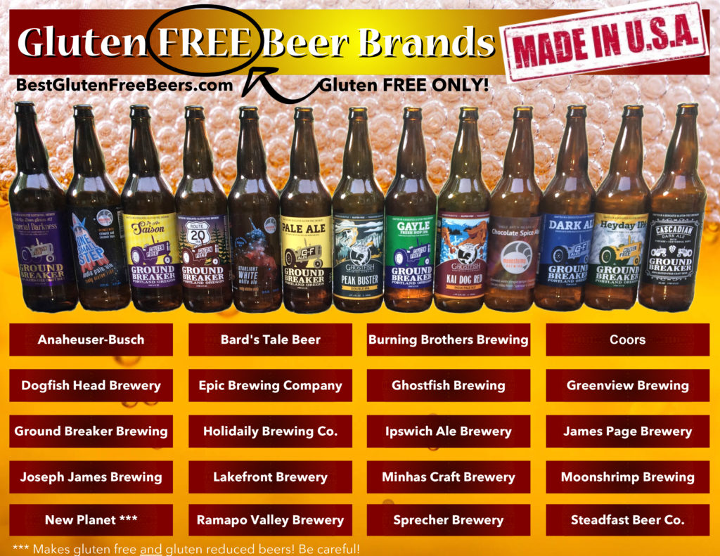 Agribank: Gluten Free Beer Brands List (USA Edition) Gluten FREE Only
